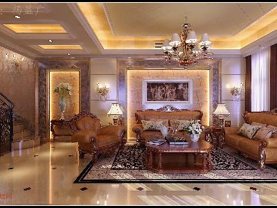 套内面积::380㎡ 材 质:客厅,餐厅,过道采用微晶石瓷砖,卧室仿实木图片