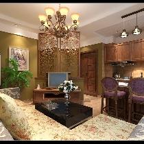 哈尔滨实创6.4万打造群力新苑典美式乡村之家