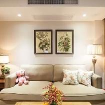 沙发选择尺寸较小的,显得很精致。