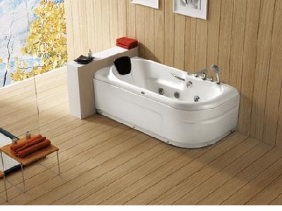 华美嘉和沐-WG-H05AB浴缸。彩光疗法是一种迷人的放松方式,它对人的身心都具有积极的效应。为了更好地借助光来增强沐浴或按摩浴的放松效果,此款浴缸将全新的灯光概念运用于按摩系统中。全新的照明方式:灯光喷嘴。它不仅有令人放松的效果,其光线在水中绘出的优美图案还别具观赏性。