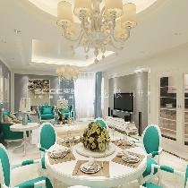 【实创装饰】10万打造125平晓港名城三居室欧式装修设计