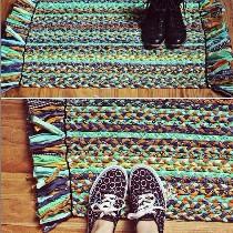 变废为宝:旧布条轻松DIY超美地毯