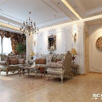 【上海实创装饰】143平老房翻新新古典风格装修设计