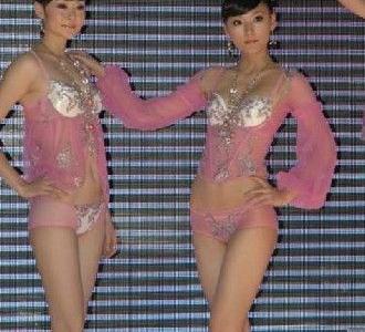 中国模特透明内衣展