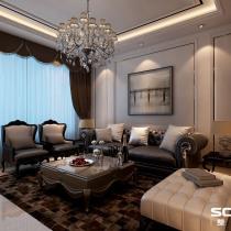 哈尔滨实创装饰打造香醍雅诺100平雅致新古典两居