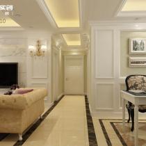 低调奢华的简约欧式装修 | 青岛海尔学府90平带地下室