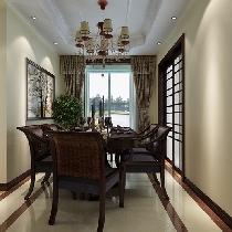 三居室花样年华120平美式装修风格