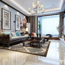【上海实创装饰】森兰名轩128平三居新中式舒适惬意小家