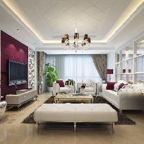 130平后现代风格两居室,空间突显出神秘,浪漫