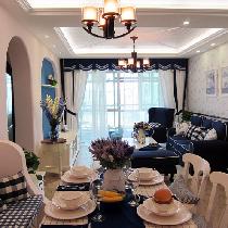 上海宝山83平二居地中海清新家-13万打造蓝色大海梦想之家