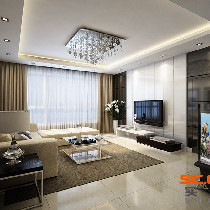【雅居乐君域公馆】128平米实用与灵活性简约风格