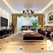 鼎盛创典装饰12万打造城市维也纳148平米简欧风格