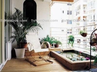 阳台中式田园图片