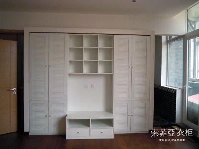 客厅组合柜,将电视柜功能和储物功能结合一体.图片