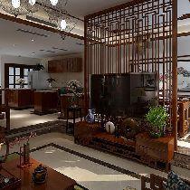别墅装修【喜山】180平中式装修设计|青岛实创装饰