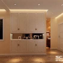 走廊装修效果图 在整体的规划上,增加储物的空间,所以特意为业主设计了一个衣帽间,不仅储藏空间加大了,也让卧室的采光感更好。卫生间特意设计为干湿分离,一方面增大了卫生间的使用面积,另一方面也在使用上更加合理。