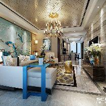 【上海实创装饰】上海滩花园200平别墅现代奢华风格家