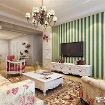 【上海实创装饰】韶光花园100平田园风格老房翻新装修设计