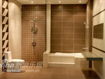 最新中式别墅卫生间装修效果图 2013中式别墅卫生间设计效果图 中式高清图片
