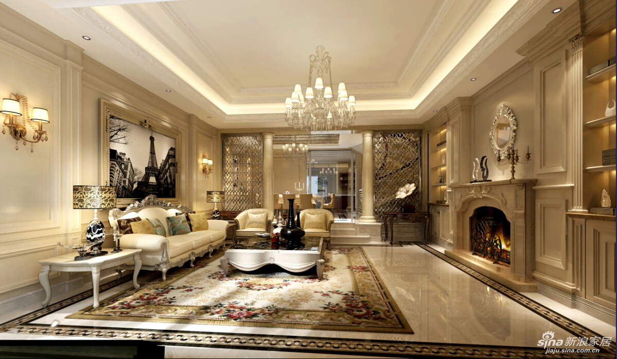 别墅户型欧式新古典风格设计方案图片