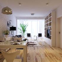 【小户型装修案例】54平单身公寓焕然一新的一居室