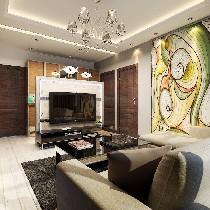 【上海实创装饰】60平咖啡色个性空间 老房改造