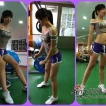 """被称为""""健身房美魔女""""的41岁辣妈张婷媗"""