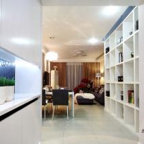 小夫妻装修88平完美新房 怀旧与现代时尚完美结合