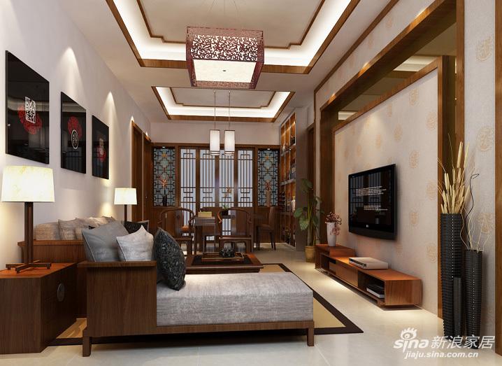中式花纹墙纸;现代元素主要是灰镜