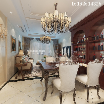 三居室装修案例【保利叶公馆】110平简欧装修设计|青岛实创装饰