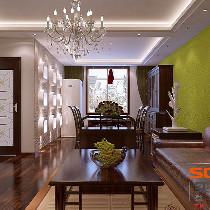 天健上城—自然清新东南亚风格-两居室装修