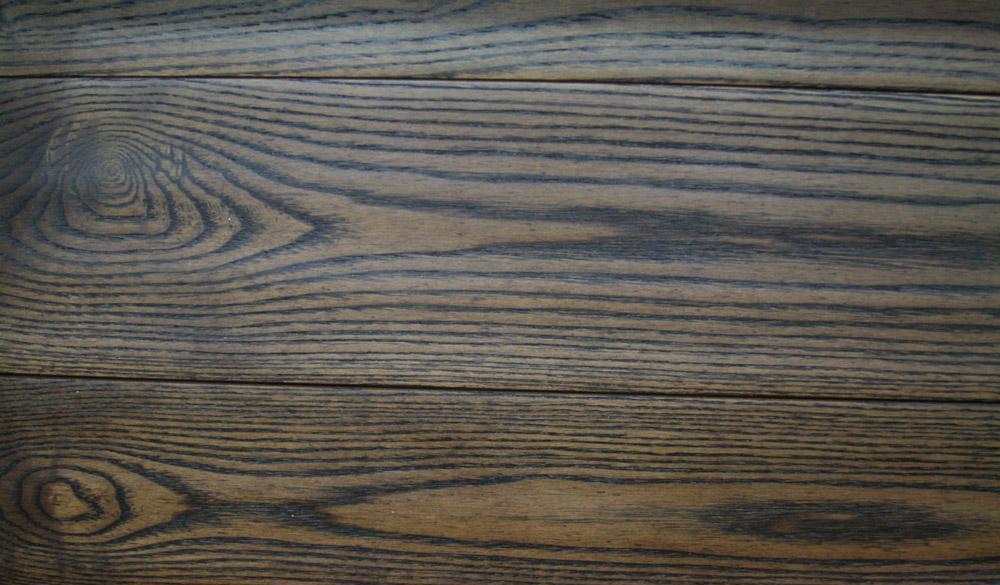 欧宝S0605白蜡木黑色仿古实木地板