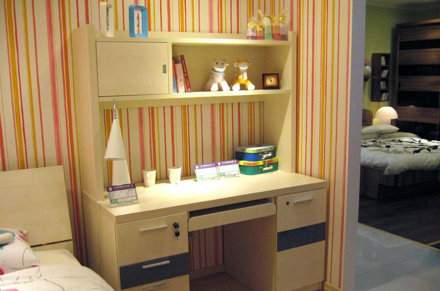 百强儿童家具8b2-01-08写字台+8b2-016书架