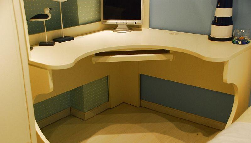 我爱我家儿童家具fm16转角书桌