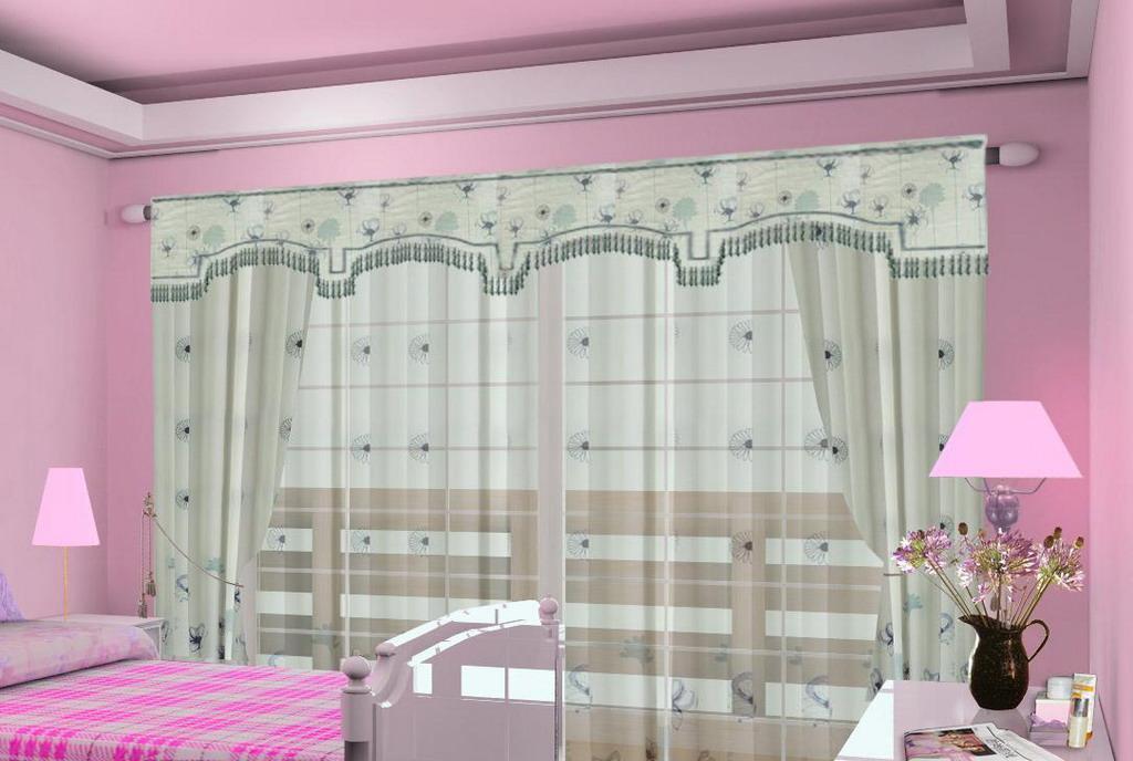 布匹善窗帘韩式小资系列墨色心气产品标价_图片