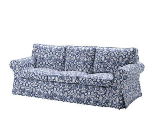 宜家爱克托(克林伯 蓝色)三人沙发产品价格_图