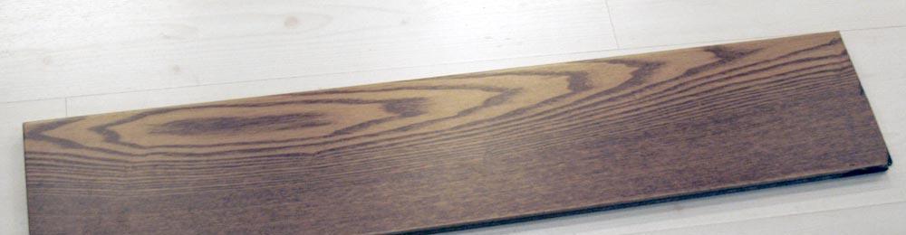 华明白腊木实木地板(水曲柳经典咖啡色)