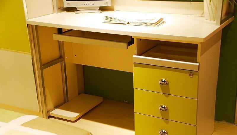 我爱我家儿童家具fg10-aa-g+w组合书桌