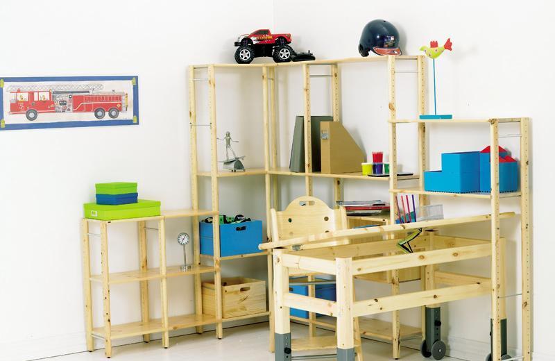 芙莱莎儿童松木家具学习桌290213