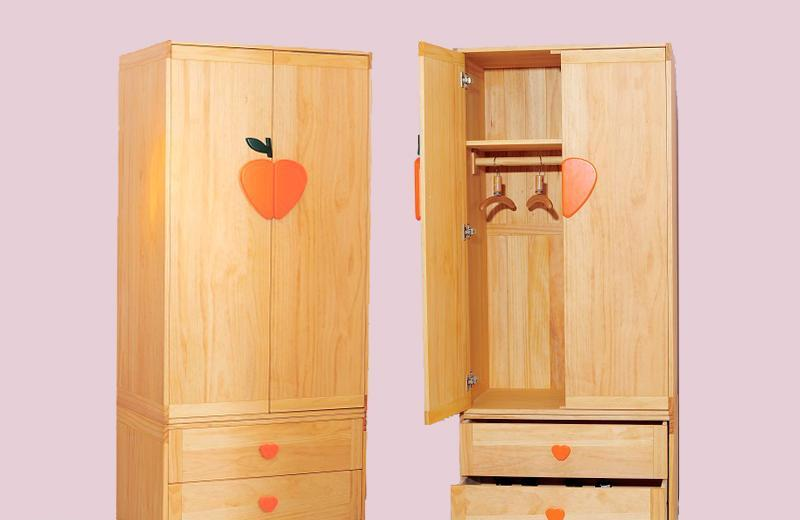 爱心城堡儿童家具衣柜j015-wr1-nr