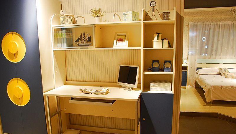 我爱我家儿童家具书架+书桌组合fu07+fg11-aa+w