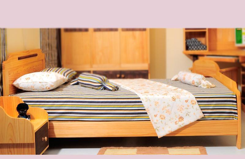 爱心城堡儿童床舒适系列j005-bd1-nr图片