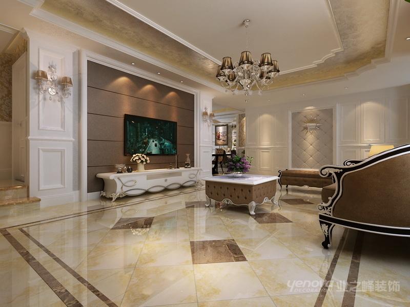 瓷砖拼花设计 客厅墙面瓷砖拼花 欧式客厅瓷砖拼花